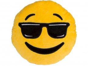 Polštář smajlík brýle 30cm
