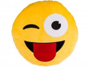 Polštář smajlík mrkající s jazykem 50cm