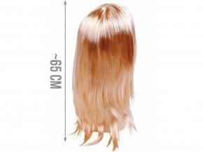 Dámská paruka blond dlouhá 1