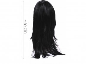 Dámská paruka černá dlouhá 1