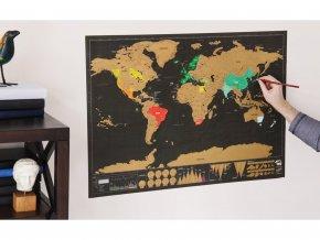 stiraci mapa světa deluxe cerna 2