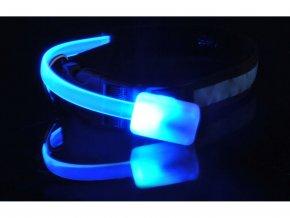 Svítící obojek modrý 4