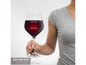 Slavnostní obří sklenice na víno Who cares 2