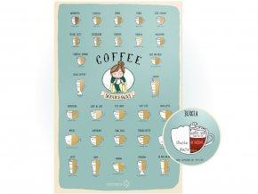 Stírací plakát kávy Coffee Scratchaway