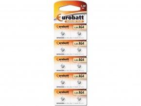 Alkalické baterie Eurobatt AG4 1,5V 1ks