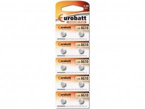 Alkalické baterie Eurobatt AG10 1,5V 1ks