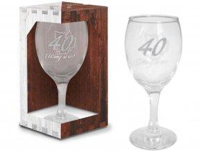 Sklenice na víno narozeniny 40