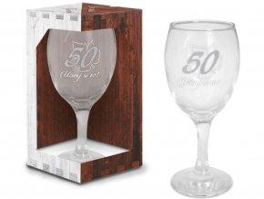 Sklenice na víno narozeniny 50