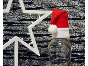 Vánoční čepka na láhev Santa Claus