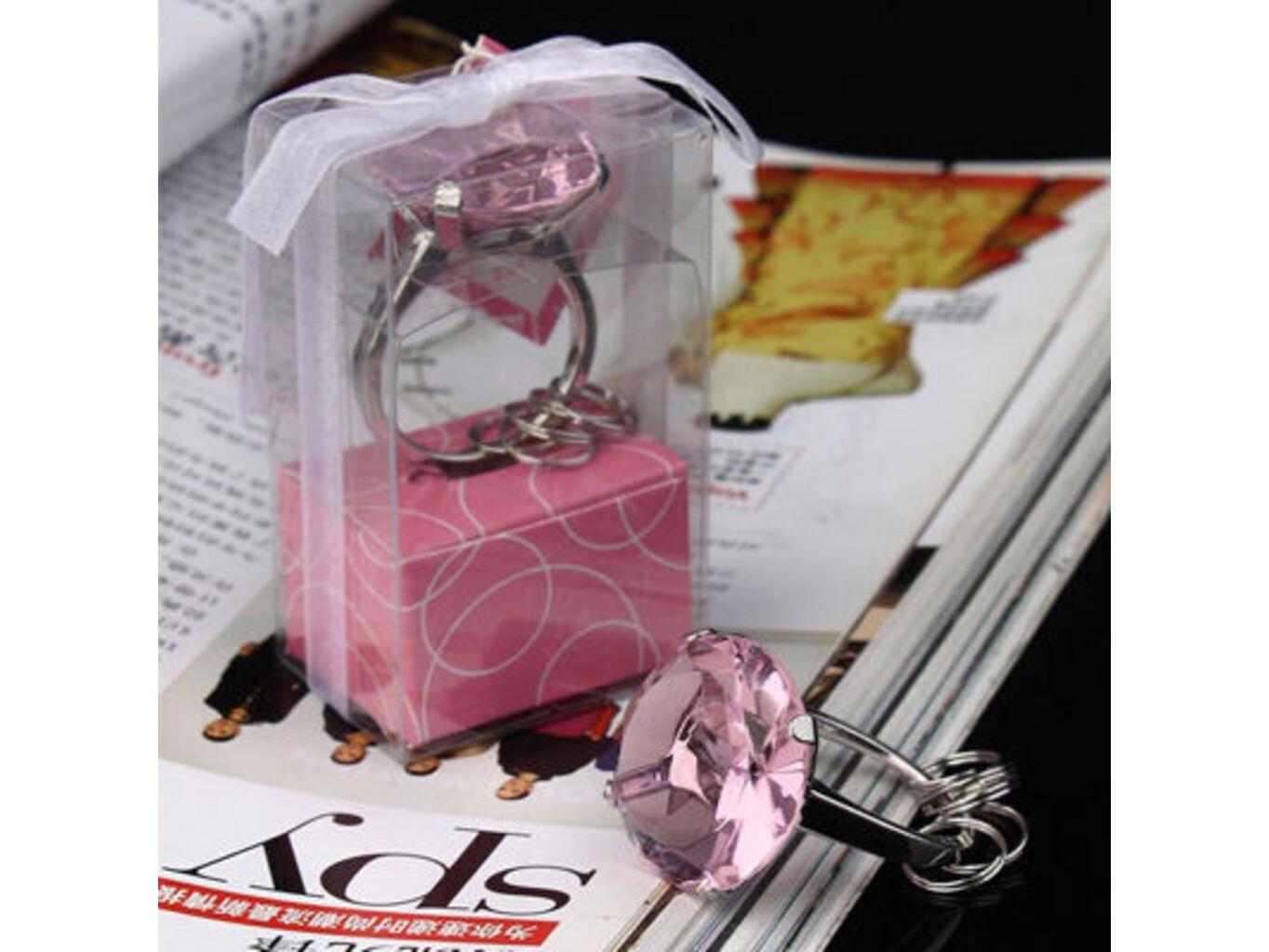 Přívěšek diamant - růžový