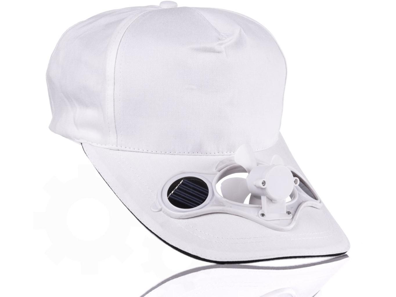 Solární čepice s větráčkem Barva: Bílá