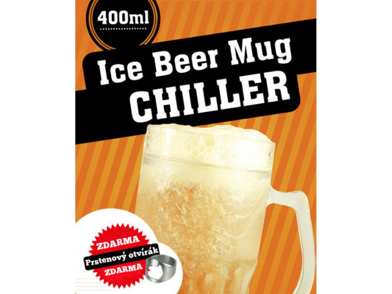 Samochladící půllitr Chiller 400 ml + zdarma otvírák
