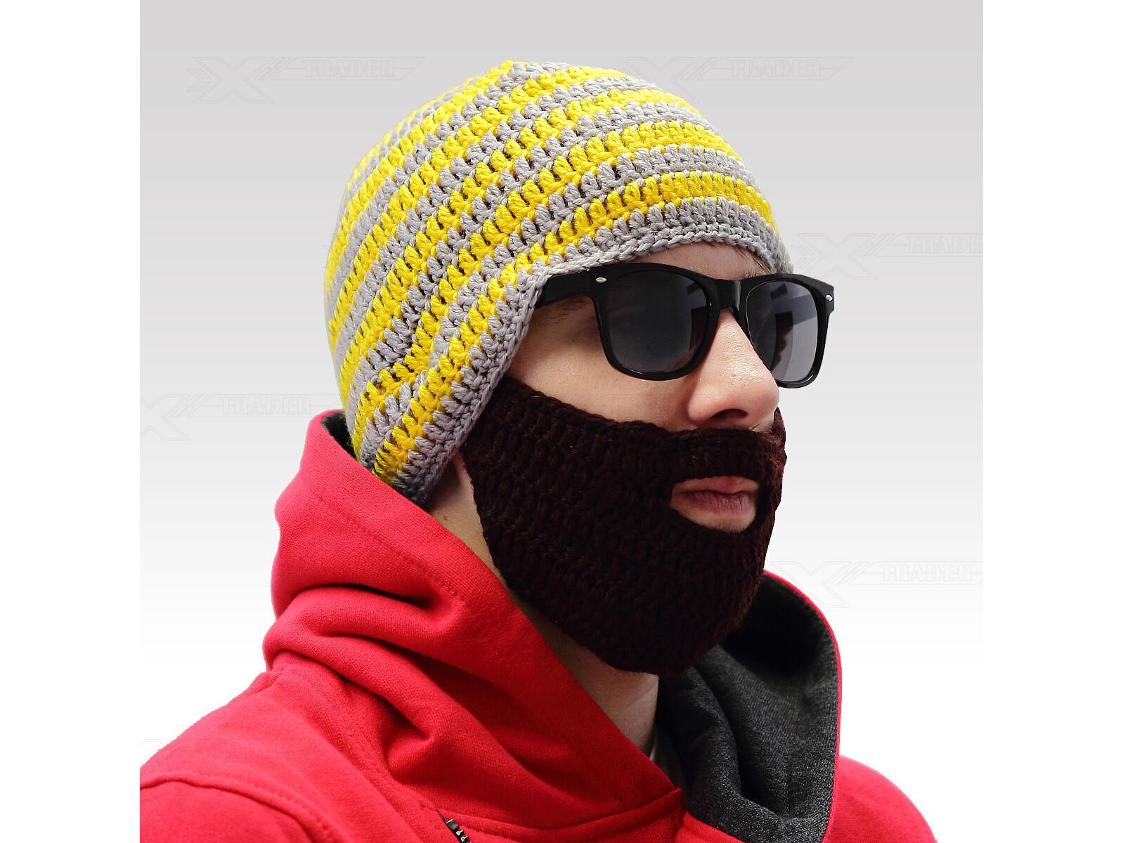 Beardo čepice s vousy Barva: Šedo-černá