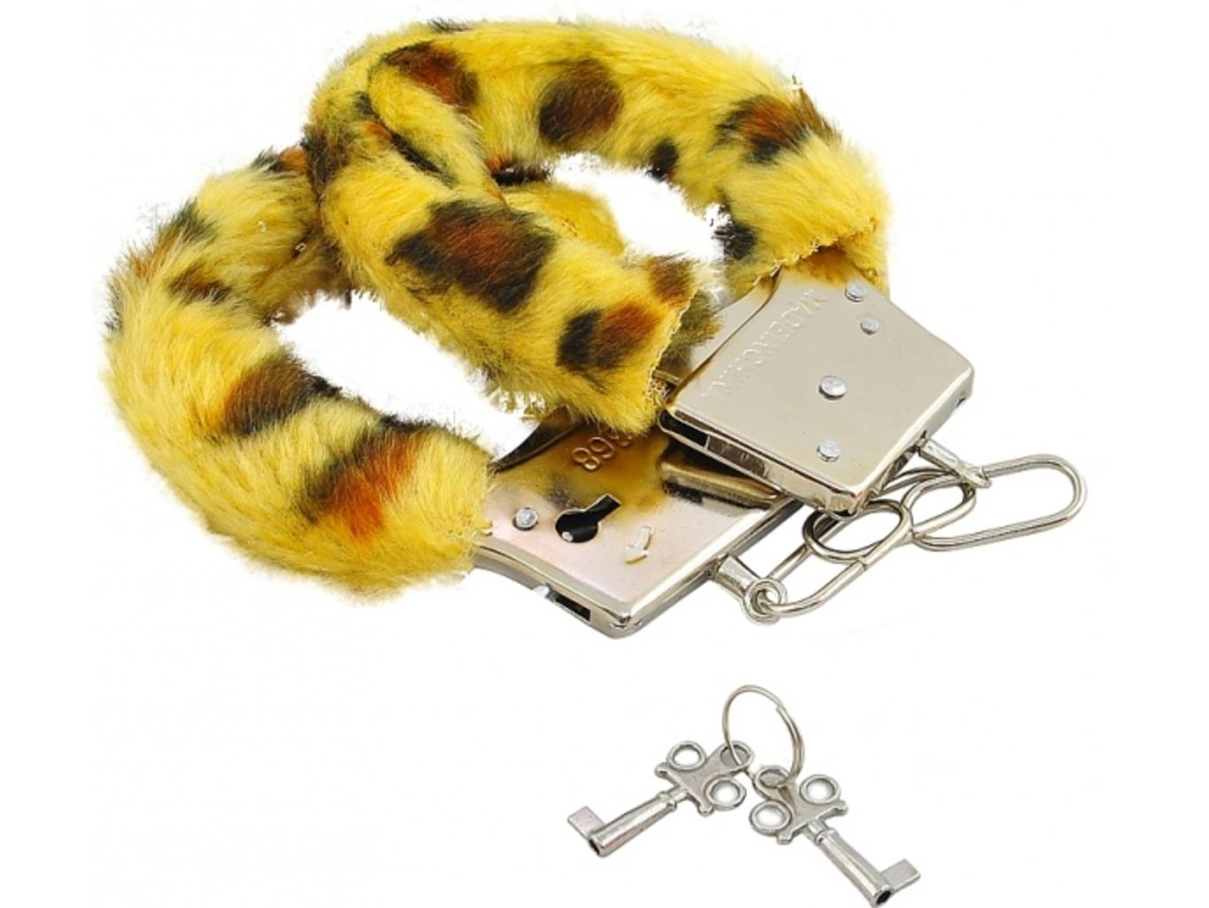 Plyšová pouta - leopard
