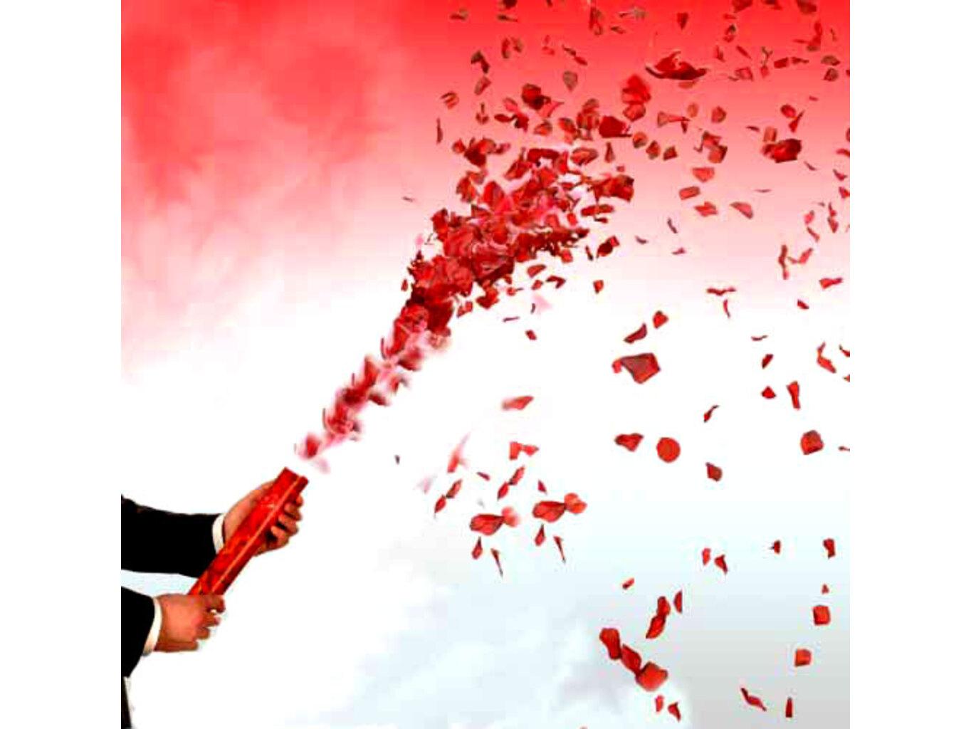 Svatební vystřelovací konfety 40cm Barva: Růžová