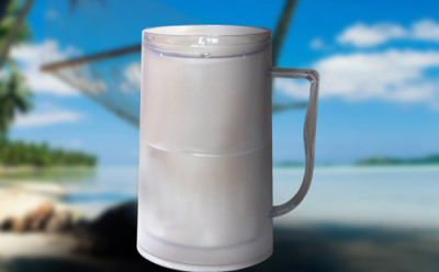 Chladící půllitr gelový - průhledný