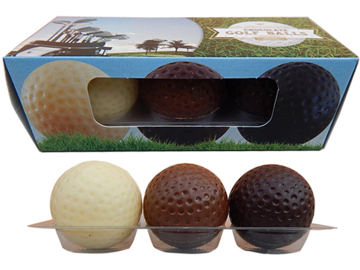 Čokoládové golfové míčky
