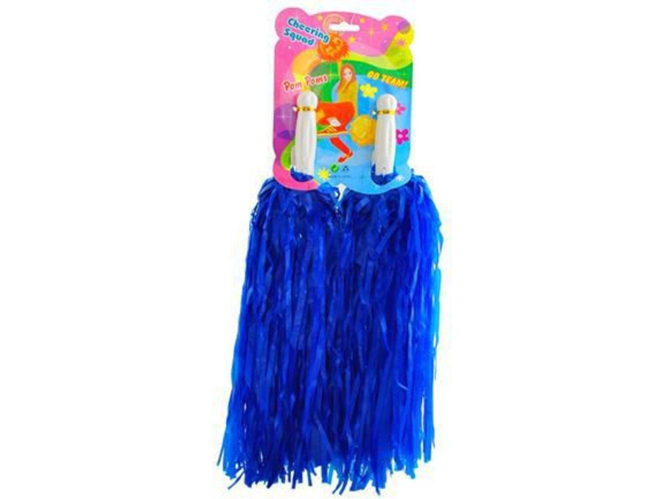 Pompony lesklé Barva: Modrá