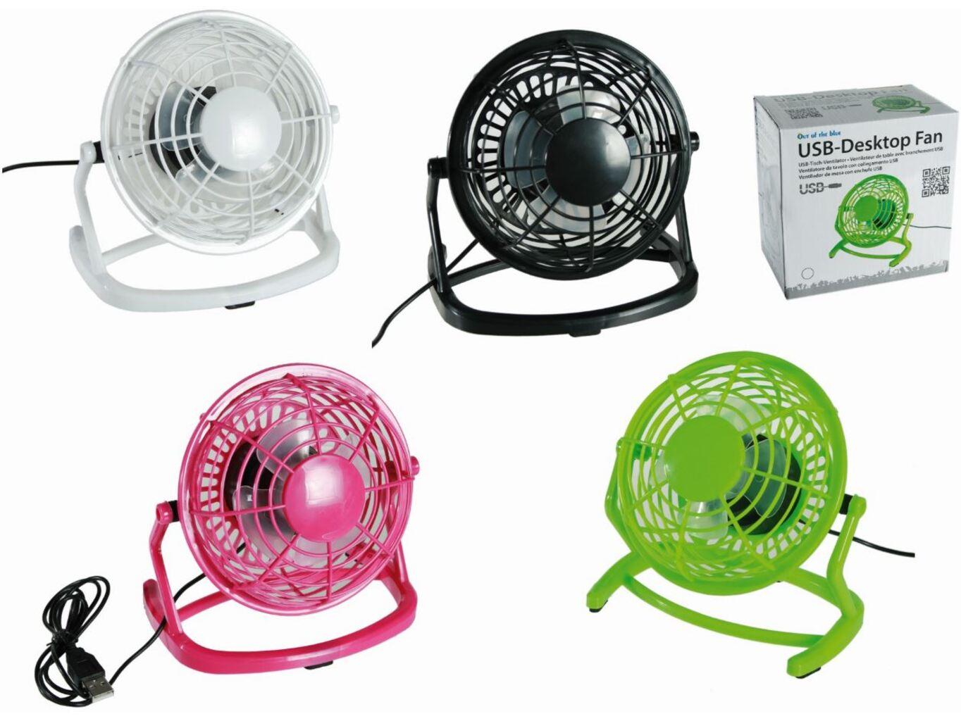 Stolní USB větráček Barva: Růžová