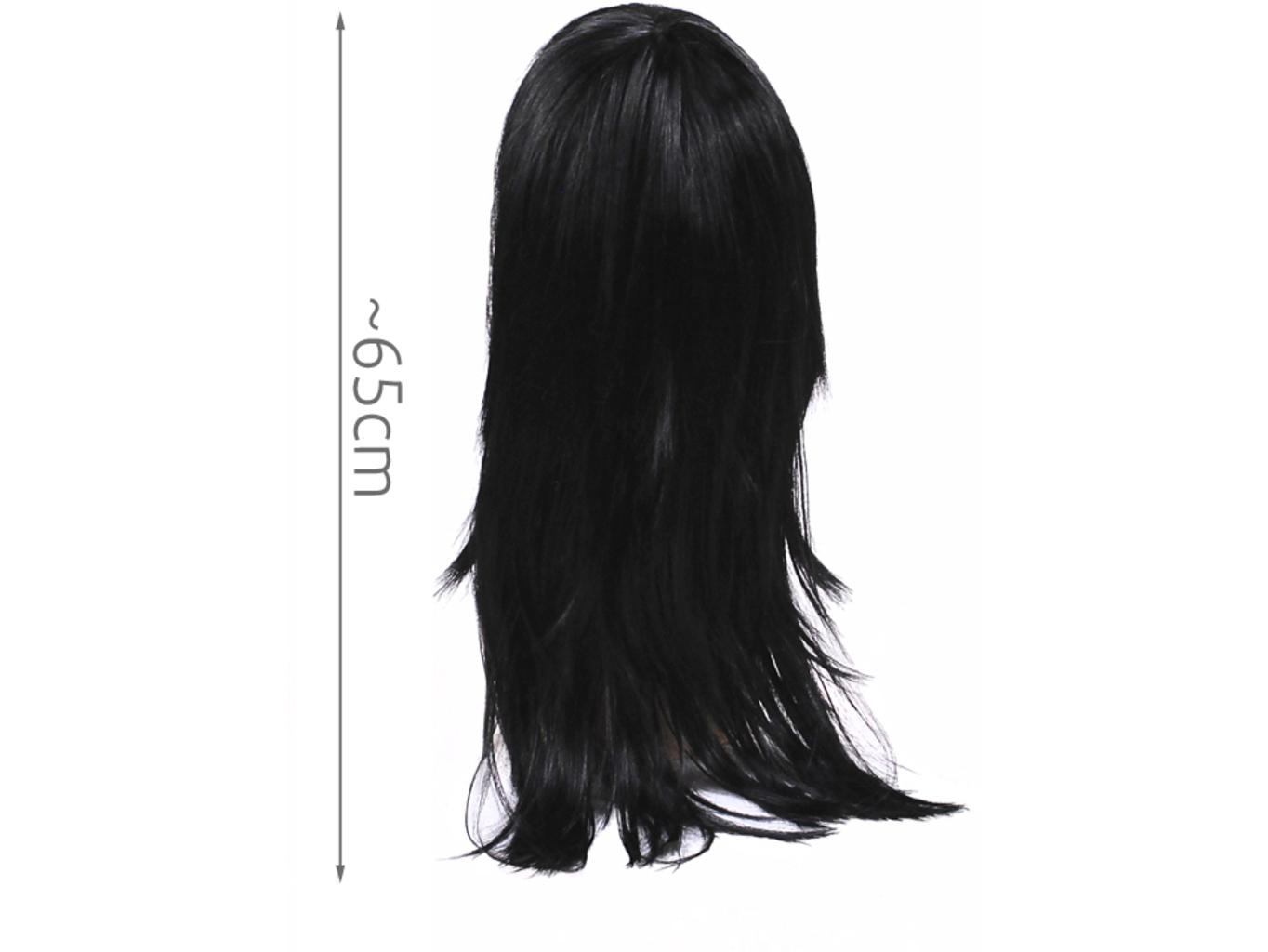 Dámská paruka černá dlouhá