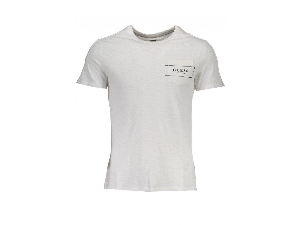 026b0a41ca Pánské triko Guess bílé - Levně jen u nás!
