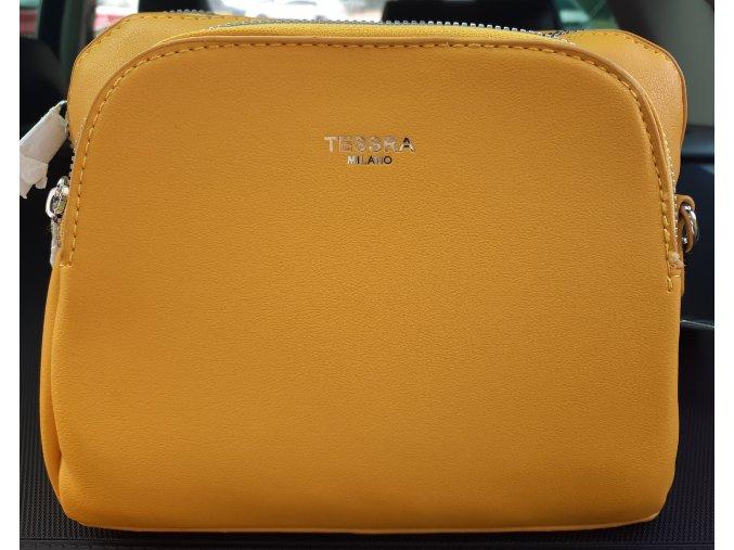 Slaměná kulatá kabelka v hnědé barvě