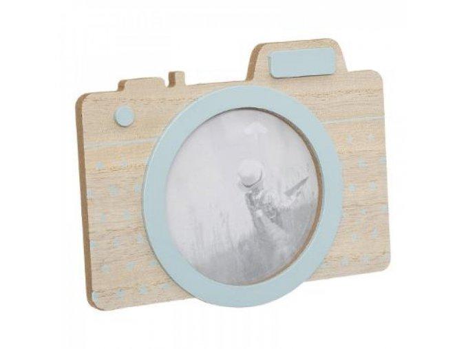 Dřevěný rámeček na fotku ve tvaru foťáků
