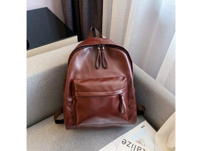 Elegantní - sportovní batoh hnědé barvy