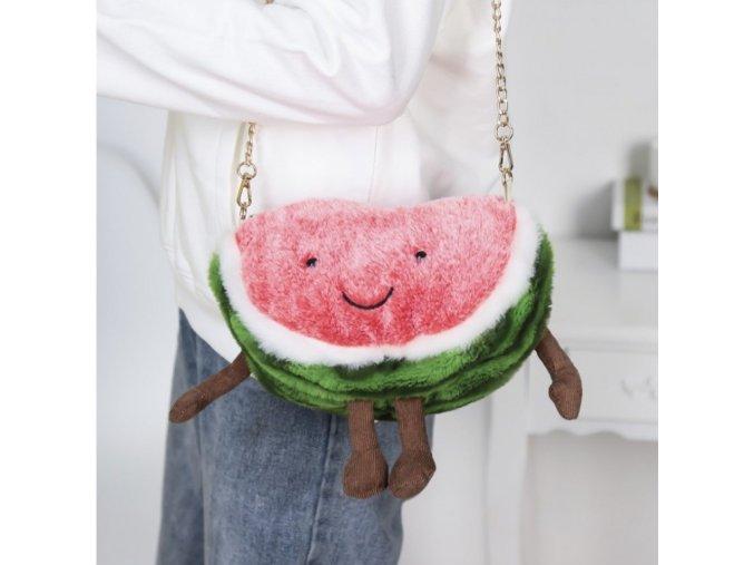 Dámská kabelka plyšový meloun