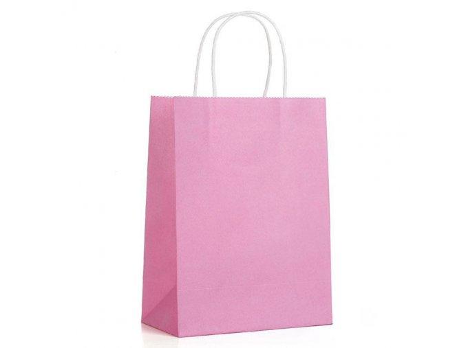 Papírová taška růžová