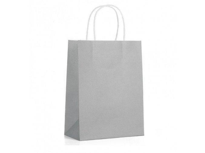 Papírová taška šedá