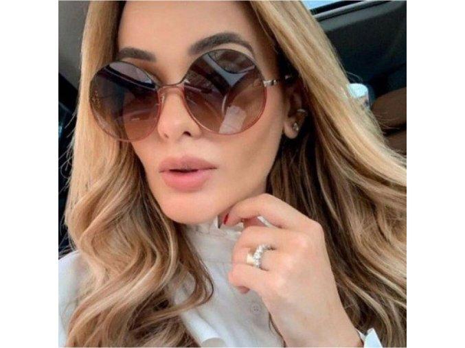 Elegantní kovové brýle kulaté