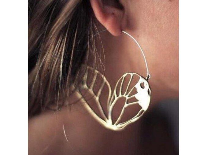 Náušnice motýlí křídla