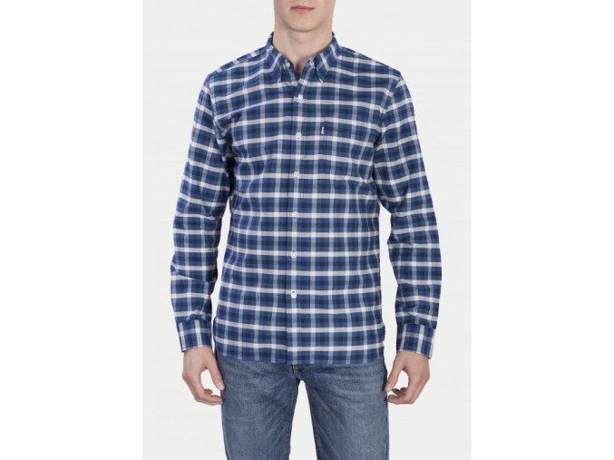 levi slevis panska kosile sunset one pocket shirt dark blue