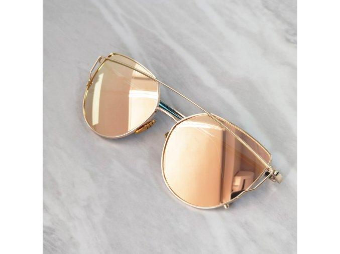Zrcadlové sluneční brýle dámské