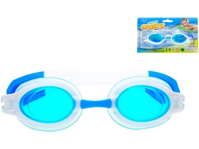 Brýle dětské plavecké 16cm do vody na kartě