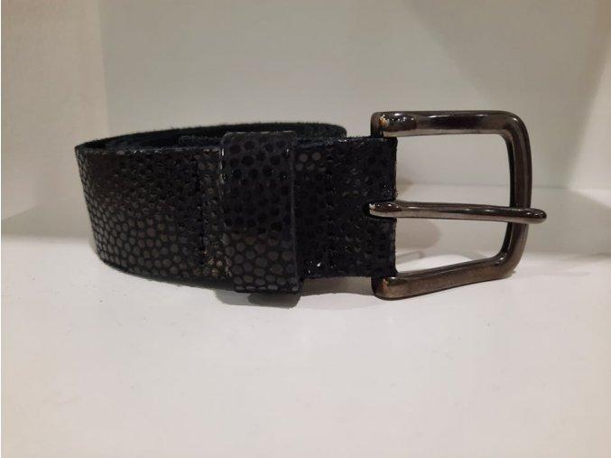 Dámský kožený pásek S. oliver černý