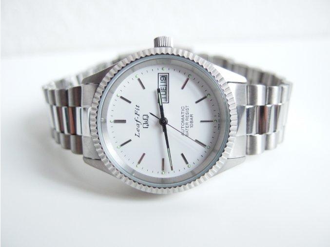 Pánské hodinky kovové stříbrné automatické