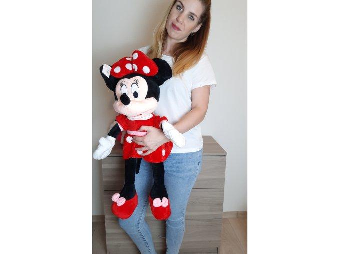 Plyšová Minnie Mouse v červených šatičkách