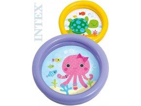 INTEX Baby bazének nafukovací 61x15cm brouzdaliště se zvířátkem 2 druhy 59409