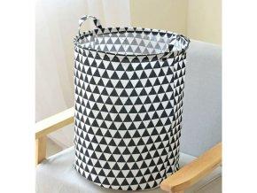 Textilní koš černo-bílý 45 cm