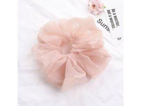 Vlasová tylová gumička světle růžová