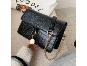 Dámská kabelka černá se zlatými doplňky