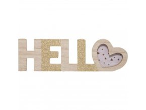 Dřevěný foto rámeček HELLO