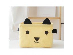 Malý košík medvídek žlutý