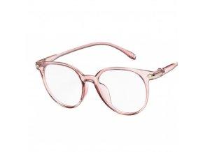 Brýle růžové s čirými skly