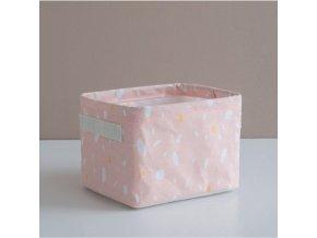 Košík růžový malý