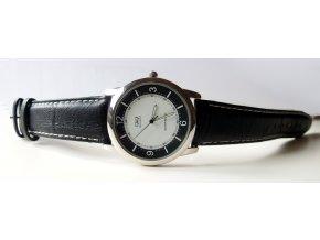 Pánské hodinky černé kožené
