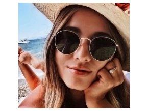 Dámské sluneční kulaté brýle