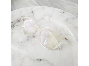 Brýle s čirými skly